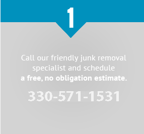 Call our friendly junk removal specialist and schedule a free, no obligation estimate. 330-571-1531